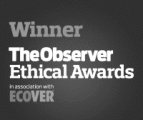 Winner of the Ecover The Observer Ethical Awards