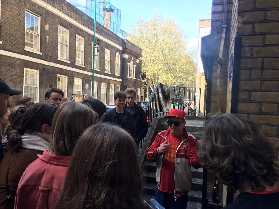 homeless tour guide london, Pete